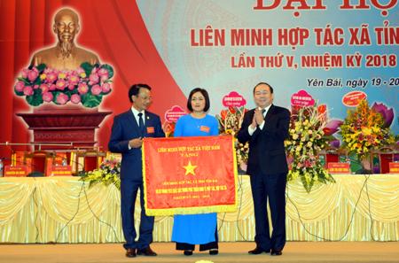 Chủ tịch Nguyễn Ngọc Bảo dự Đại hội Liên minh HTX tỉnh Yên Bái lần thứ V, nhiệm kỳ 2018 - 2023