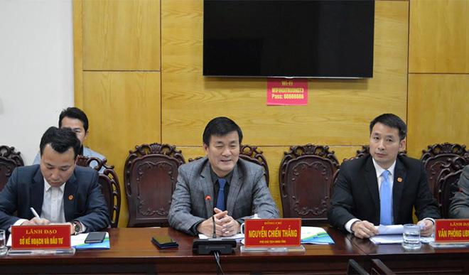 Đồng chí nguyễn chiến thắng – phó chủ tịch ubnd tỉnh phát biểu tại buổi làm việc
