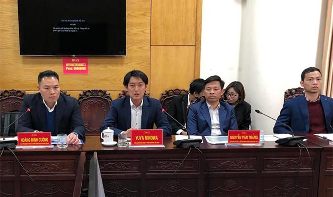 Ông minowa – tổng giám đốc công ty tnhh niinuma việt nam ( thứ 2 trái sang) giới thiệu về dự án.