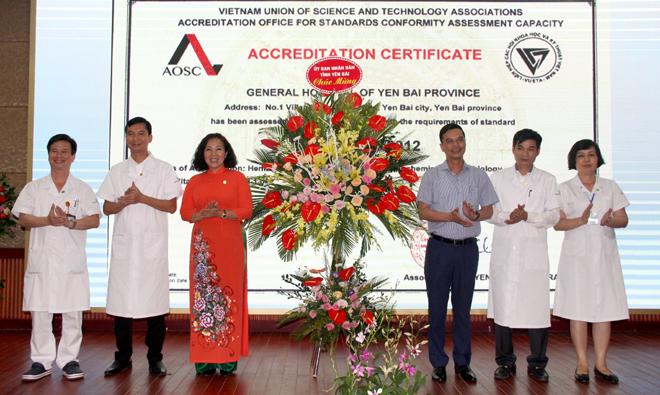 Bệnh viện đa khoa yên bái chứng chỉ ISO 15189