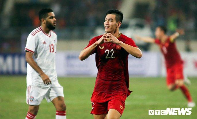 Tiến Linh là người ghi bàn thắng duy nhất của trận đấu.