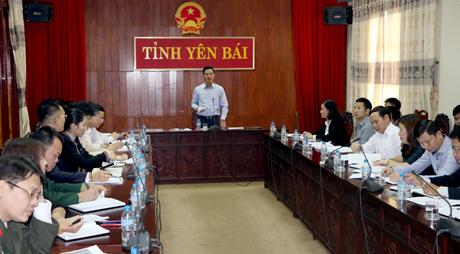 Phó Chủ tịch UBND tỉnh Dương Văn Tiến phát biểu chỉ đạo công tác chuẩn bị cho Lễ khởi công Dự án sẽ diễn ra vào ngày 3/2.