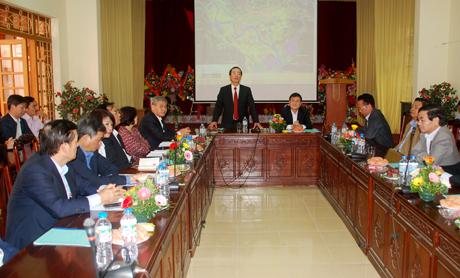 Bộ trưởng Bộ Xây dựng Phạm Hồng Hà phát biểu tại buổi làm việc