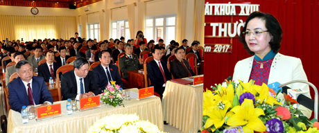 Bí thư Tỉnh ủy, Chủ tịch HĐND tỉnh Phạm Thị Thanh Trà phát biểu bế mạc kỳ họp.