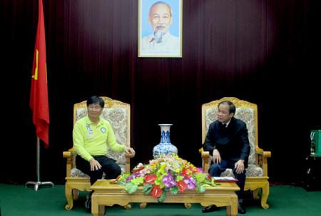 Đồng chí Tạ Văn Long - Phó Chủ tịch Thường trực UBND tỉnh làm việc với đoàn công tác