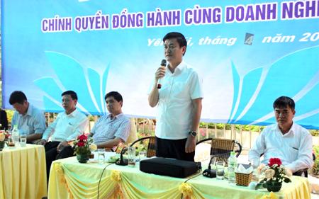 Đồng chí Nguyễn Chiến Thắng - Phó Chủ tịch UBND tỉnh phát biểu tại Chương trình