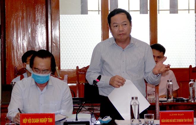 Ý kiến phát biểu của ông Bùi Trung Thu – Giám đốc Ngân hàng Nhà nước Chi nhánh tỉnh Yên Bái.