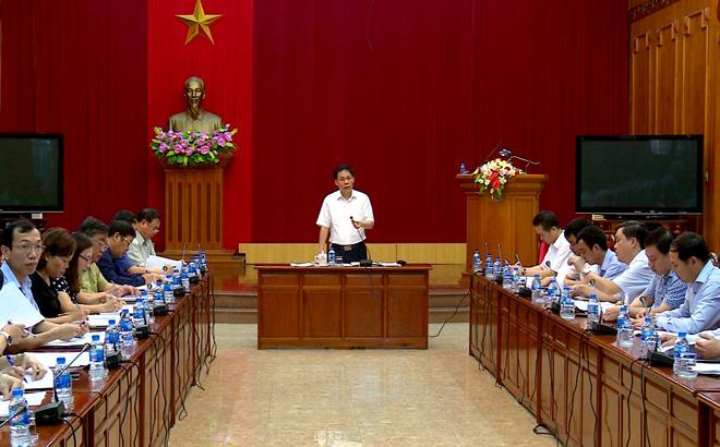 Đồng chí Nguyễn Văn Khánh - Phó Chủ tịch UBND tỉnh kết luận buổi làm việc.