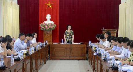 Bí thư Tỉnh ủy, Chủ tịch HĐND tỉnh Phạm Thị Thanh Trà phát biểu kết luận cuộc làm việc.