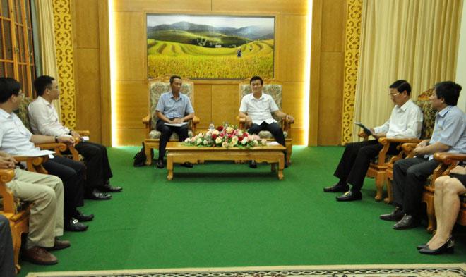 Phó Chủ tịch UBND tỉnh Nguyễn Chiến Thắng tiếp và làm việc với đoàn công tác của Bộ Ngoại giao.