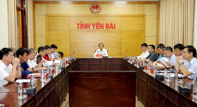 Các đại biểu dự Hội nghị tại điểm cầu tỉnh Yên Bái.