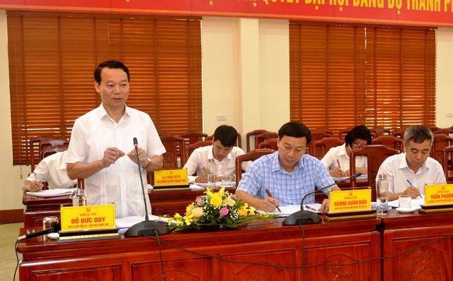 Phó Bí thư Tỉnh ủy, Chủ tịch UBND tỉnh Đỗ Đức Duy yêu cầu trong thời gian tới, thành phố Yên Bái cần tập trung thực hiện 6 nhóm nhiệm vụ, giải pháp.