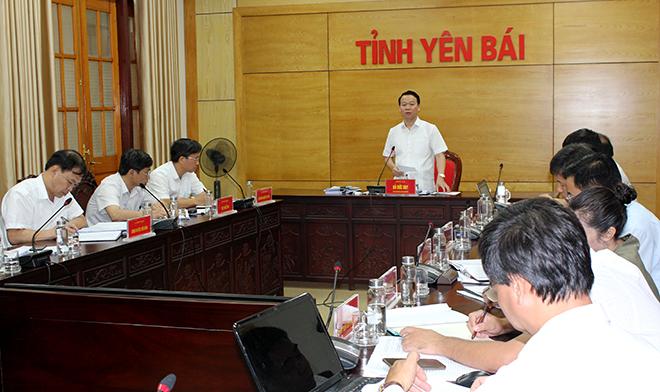Đồng chí Đỗ Đức Duy - Chủ tịch UBND tỉnh kết luận tại buổi làm việc.