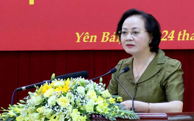Bí thư Tỉnh ủy Phạm Thị Thanh Trà phát biểu khai mạc Hội nghị.