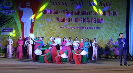 Tiết mục tốp ca của đoàn viên công đoàn Sở Văn hóa - Thể thao và Du lịch.