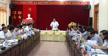 Đồng chí Đặng Thuần Phong - Phó Chủ nhiệm Ủy ban về Các vấn đề xã hội Quốc hội phát biểu tại buổi làm việc.