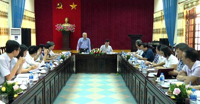 Đồng chí Trần Viết Lưu - Vụ trưởng Vụ Tổng hợp, Ban Tuyên giáo Trung ương phát biểu kết luận hội nghị.