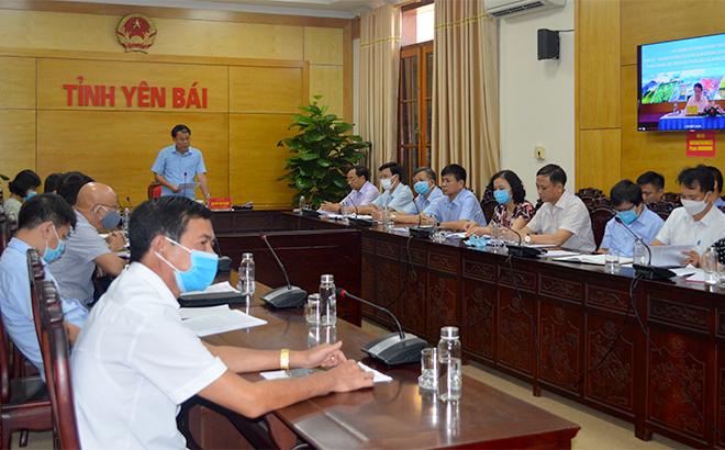 Đồng chí Nguyễn Văn Khánh - Phó Chủ tịch UBND tỉnh Yên Bái phát biểu tại Hội nghị.
