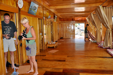 Homestay ở bản Thái, xã Kim Nọi là địa điểm hút khách du lịch.