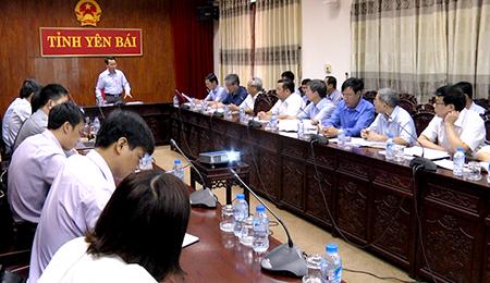 Đồng chí Đỗ Đức Duy - Chủ tịch UBND tỉnh Yên Bái phát biểu kết luận Hội nghị.