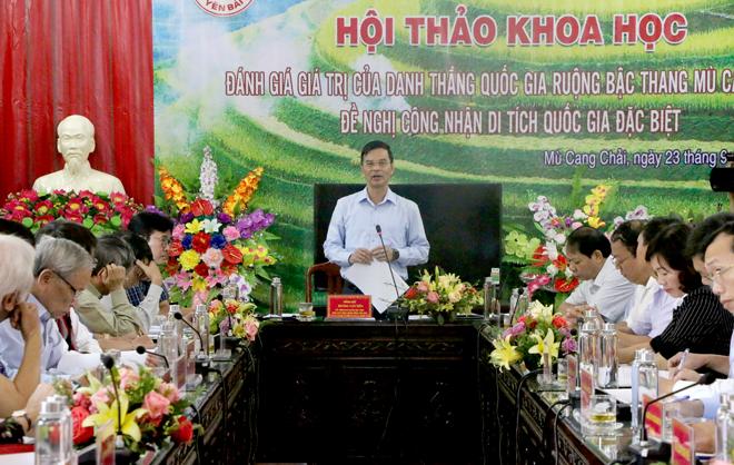 Phó Chủ tịch UBND tỉnh Dương Văn Tiến phát biểu bế mạc Hội thảo.