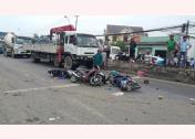 Vụ TNGT do xe container gây ra tại Long An
