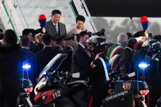 Chủ tịch Trung Quốc Tập Cận Bình và phu nhân đã đến Italy hôm 21/3.