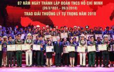 Lễ trao giải thưởng Lý Tự Trọng năm 2019.