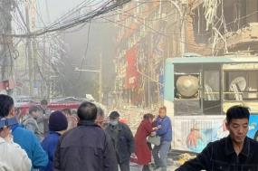 Khung cảnh tan hoang sau vụ nổ.
