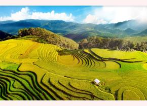 Danh thắng quốc gia Ruộng bậc thang Mù Cang Chải trở thành điểm đến hấp dẫn với đông đảo du khách. (Ảnh: Thanh Miền)