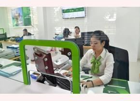 A transaction office of Vietcombank in Laos