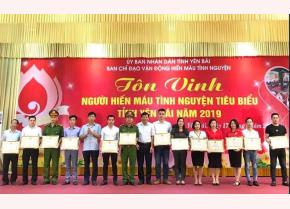 Certificates of merit were presented to outstanding blood donors for their contributions to the blood donation movement at the ceremony held in 2019.