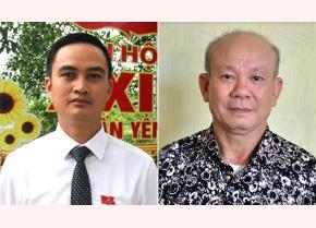 Ông Hoàng Mạnh Cường (bên trái) và ông Nguyễn Thanh Lơi (bên phải)