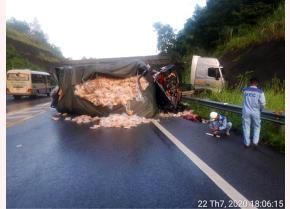 Tai nạn trên cao tốc Nội Bài - Lào Cai khiến 2 người tử vong hôm 22/7