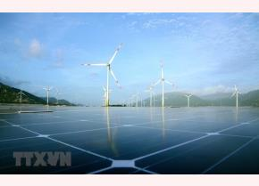 A solar and wind power project in Ninh Thuan province