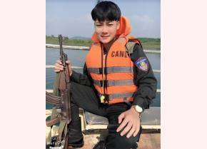 Chiến sỹ công an Lê Hải Long.