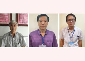 Các đối tượng Phạm Dũng, Cấn Hồng Lai, Lê Văn Long (từ trái qua phải). Ảnh: Bộ Công an cung cấp.