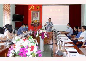 Đồng Chí Cao Xuân Chiểu - Phó Bí thư Đảng ủy Khối cơ quan và doanh nghiệp tỉnh, Trưởng Ban tổ chức Hội thi phát biểu tại Hội nghị.
