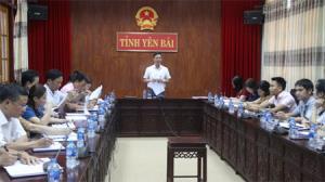 Đồng chí Dương Văn Tiến – Phó Chủ tịch UBND tỉnh phát biểu chỉ đạo tại buổi làm việc.