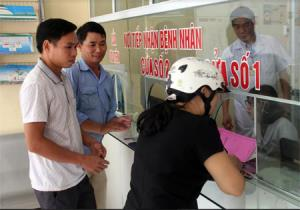 Nơi tiếp nhận của Trung tâm Y tế huyện Lục Yên rất thuận tiện cho bệnh nhân.