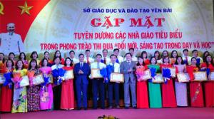 Cô giáo Nguyễn Thị Lan là một trong 50 nhà giáo tiêu biểu được tuyên dương có thành tích xuất sắc trong Phong trào thi đua