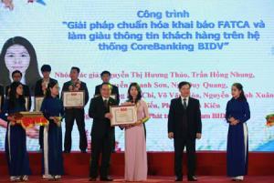 """Các công trình, sản phẩm sáng tạo tiêu biểu được trao giải thưởng """"Tuổi trẻ sáng tạo"""" năm 2018."""