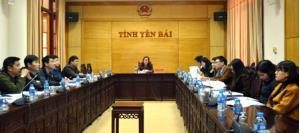Các đại biểu dự Hội nghị tại điểm cầu Yên Bái.