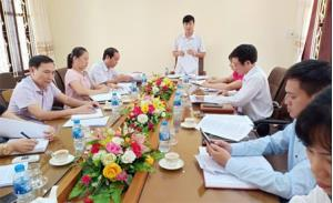 Đoàn kiểm tra của tỉnh kiểm tra công tác CCHC tại Sở Khoa học và Công nghệ.