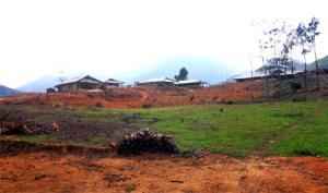Toàn cảnh khu định cư mới Nà Nọi, xã Sùng Đô, huyện Văn Chấn.