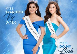 2 đại diện Việt Nam tại Miss World Đỗ Mỹ Linh và Trần Tiểu Vy.