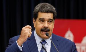 Tổng thống Venezuela phát biểu trong họp báo tại Điện Miraflores ở Caracas, Venezuela hôm 12/12/2018.