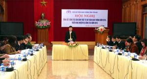 Đồng chí Nguyễn Chiến Thắng – Phó Chủ tịch UBND tỉnh phát biểu kết luận Hội nghị.