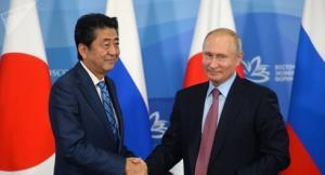 Thủ tướng Nhật Bản Shinzo Abe và Tổng thống Nga Vladimir Putin.
