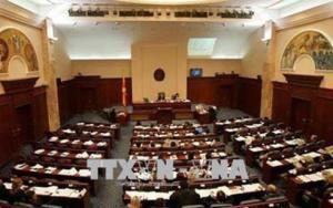 Toàn cảnh một phiên họp Quốc hội Macedonia.